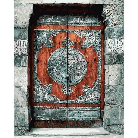Потайная дверь Раскраска картина по номерам на холсте