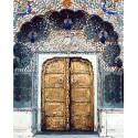 Сказочная дверь Раскраска картина по номерам на холсте