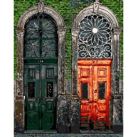 Старинные двери Раскраска картина по номерам на холсте