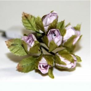 Светло-сиреневые розы Декоративный букетик Рукоделие