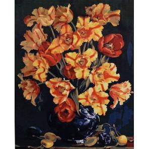 Тюльпаны Раскраска картина по номерам акриловыми красками на холсте