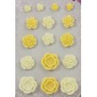 Цветочная вышивка 2 Самоклеющиеся объемные цветы Scrapberry's