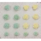 Цветочная вышивка 3 Самоклеющиеся объемные цветы Scrapberry's