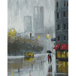 Рисуем дождь Раскраска картина по номерам на холсте