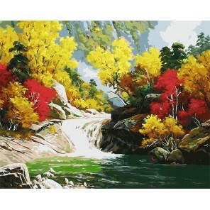 Волшебные краски осени (художник Kang Jung Ho) Раскраска картина по номерам на холсте