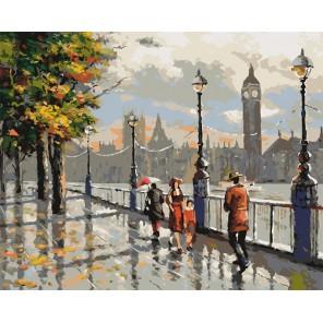 Осенний Лондон Раскраска картина по номерам на холсте