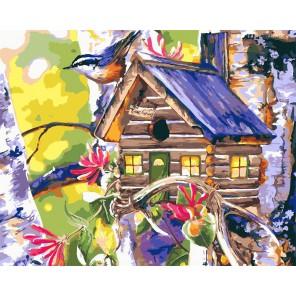Уютный скворечник Раскраска картина по номерам на холсте