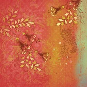 Золотые цветы Бумага для скрапбукинга, кардмейкинга K&Company