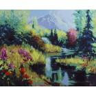 Лето в предгорье Раскраска картина по номерам на холсте