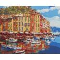 Солнечная гавань Раскраска картина по номерам на холсте