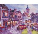 Парк с атракционами Раскраска картина по номерам на холсте