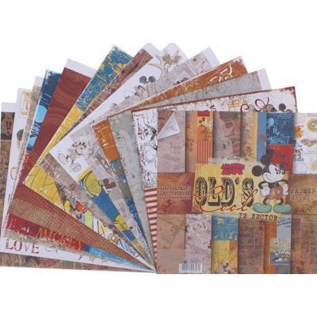 Olds cool Набор двусторонней бумаги для скрапбукинга, кардмейкинга Арт Узор