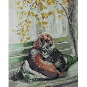 Дружба крепкая Раскраска картина по номерам на холсте