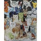 Кошачий коллаж Раскраска картина по номерам на холсте