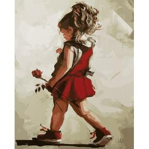 Роза в подарок маме Раскраска картина по номерам на холсте