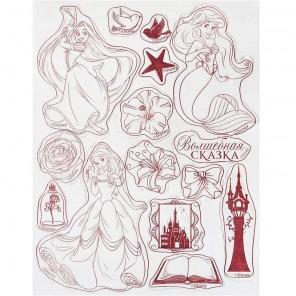 Волшебная сказка. Принцессы Набор прозрачных штампов для скрапбукинга, кардмейкинга Арт Узор
