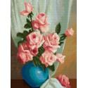 Розы в вазе Алмазная мозаика на твердой основе Iteso