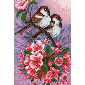 Птички в саду Алмазная мозаика на твердой основе Iteso