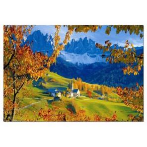 Осень в Villnoss Доломитес Италия Пазлы Educa