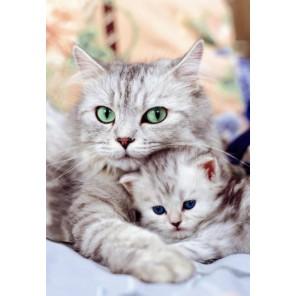 Кошка с котенком Пазлы Educa