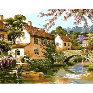 Цветущий пруд Раскраска картина по номерам акриловыми красками на холсте Menglei
