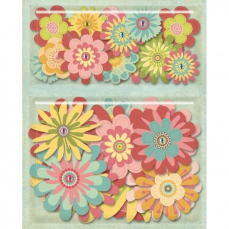 Цветы сборные Набор для скрапбукинга, кардмейкинга K&Company