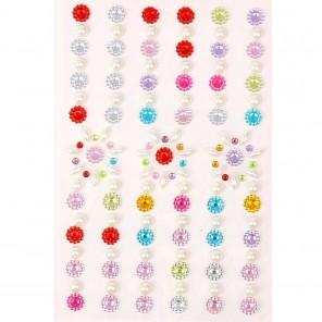 Цветы и жемчуг Стразы самоклеющиеся для скрапбукинга, кардмейкинга  Арт Узор