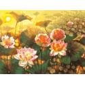Таинственный мир лотоса (художник Елена Калашникова) Раскраска картина по номерам на холсте Белоснежка