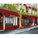 Уютная улочка Раскраска картина по номерам на холсте