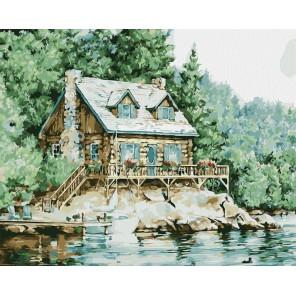 Летний домик Раскраска картина по номерам на холсте
