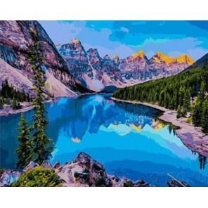 Озеро Морейн Раскраска картина по номерам акриловыми красками на холсте