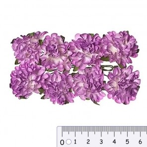 Астры сиреневые Цветы бумажные Украшение для скрапбукинга, кардмейкинга Scrapberry's