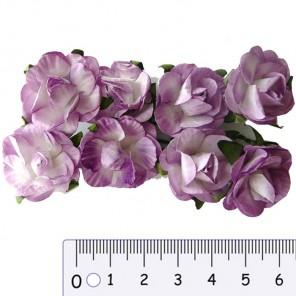Розы сиреневые Цветы бумажные Украшение для скрапбукинга, кардмейкинга Scrapberry's