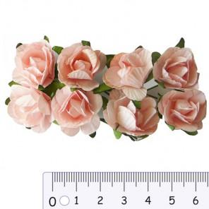 Розы розовые Цветы бумажные Украшение для скрапбукинга, кардмейкинга Scrapberry's