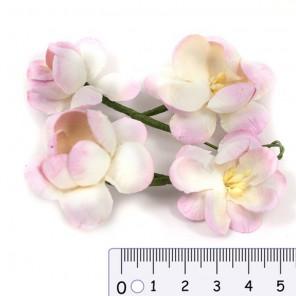 Цветы сакуры розово-бежевые для скрапбукинга, кардмейкинга Scrapberry's