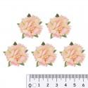 Кремово-розовые Цветы гвоздики для скрапбукинга, кардмейкинга Scrapberry's