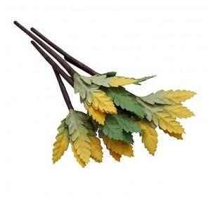 Желто-зеленые Листочки на веточке Украшение для скрапбукинга, кардмейкинга Scrapberry's