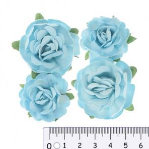Голубые Цветы чайной розы для скрапбукинга, кардмейкинга Scrapberry's