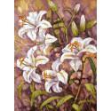 Нормандские лилии (художник Елена Калашникова) Раскраска картина по номерам на холсте Белоснежка