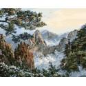 Китай. Хуаншань Раскраска картина по номерам на холсте Белоснежка