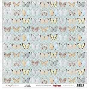 Бабочки. Бабочки Бумага односторонняя для скрапбукинга, кардмейкинга ScrapBerry's