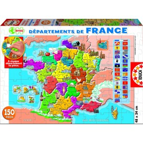 Департаменты Франции Пазлы Educa