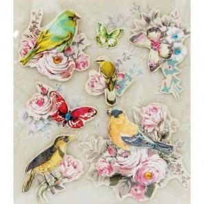 Райские птицы Набор 3D стикеров Белоснежка