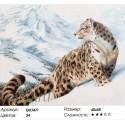 Ирбис в горах Раскраска картина по номерам на холсте