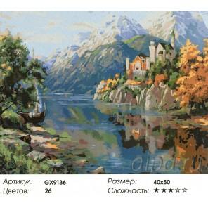 Замок в горах Раскраска картина по номерам на холсте