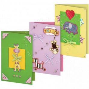 Веселая мозаика Набор для создания 3-х открыток своими руками Белоснежка