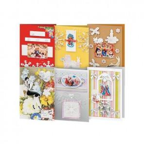 Снежинки Набор для создания 6-ти открыток своими руками Белоснежка