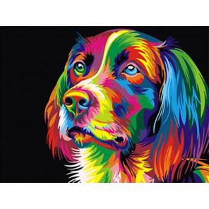 Радужный пес Раскраска картина по номерам на холсте