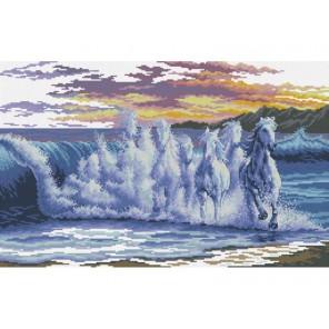 Волны - скакуны Набор для вышивания Белоснежка