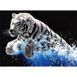 Белый тигр Набор для вышивания Белоснежка